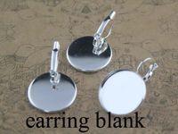 Wholesale 20pcs mm Brass silver Earring Bases Blanks earring base earring blank Ni Safe lead free