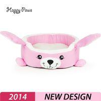 Venta caliente de color rosa conejo en la cama del perro Gato totoro casa de Mascotas lavable nido perro gato de la casa Huevo de perro de la perrera de la jaula de lujo Envío Gratuito