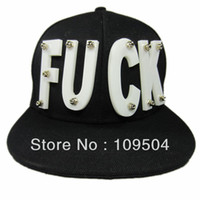 Ball Cap Red Man Fashion FUCK Baseball Cap Snapback Baseball Basketball Cap Hat 1pc Free Shipping ZHT26