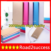 OEM Universal Power Bank 3 Usb Port 20000MAH Power Bank 20000mAh portable charger External Battery for iphone 5 ipad, samsung galaxy S3 S4 S5 DHL Fedex Free shipping
