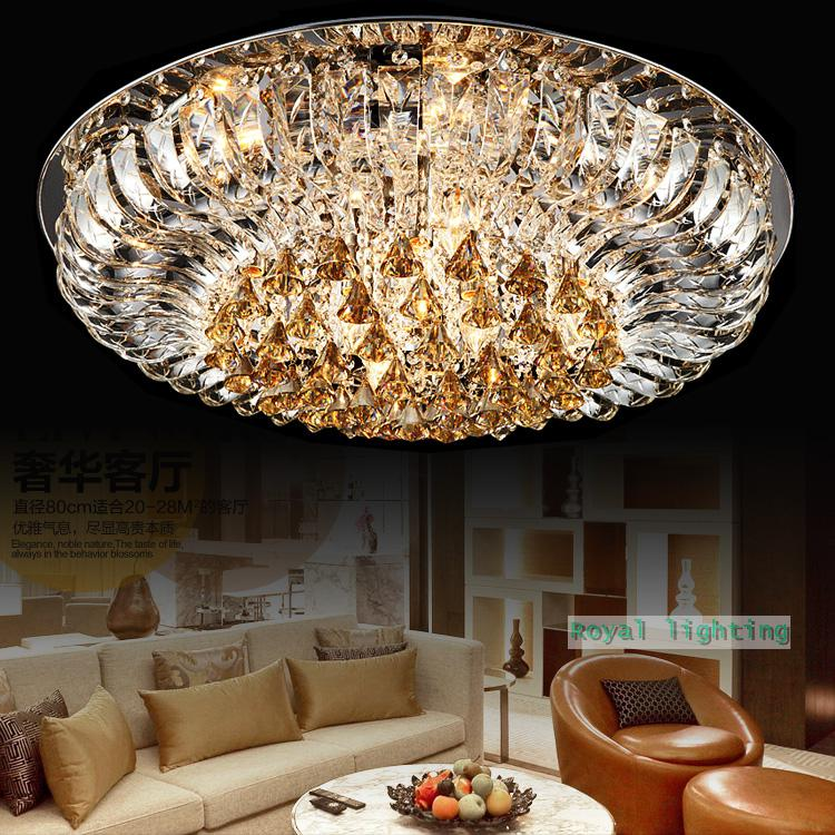 Led Lamps Modern Luxury Ceiling Hanging Lights Swan Lake 100 Crystal For Hotel Villa Living Room Suspension Light Lamp