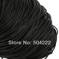 Wholesale set of yards Flat black PU Leather Band Leather Cord Soft mm Thickness
