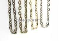 Wholesale Set of yards mixed Fancy Flat Oval Cable Brass Chain Bulk Gold silver antique bronze mixed width mm mm