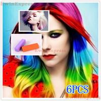 Wholesale 5Sets New Design Non Toxic Temporary Hair Color Chalk Rub DYE SOFT SALON KIT Sets