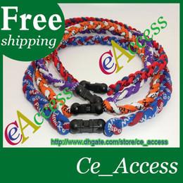 Wholesale drop shipping sports health germanium titanium energy twisted ion necklace bracelet