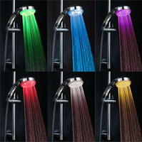 Cheap 201404Q 35pcs LED Temperature Control Rain Bathroom Shower Head Hand Shower With Romantic Changing 7 Colors Rainfall Light 35613785332