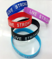 Wholesale newest quot live strong quot silicon bracelet star bracelet promote silicon bracelet can custom made logo