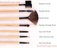 Wholesale 32Pcs set Professional Black Makeup Brush Kit Cosmetic Brushes For Make Up Set Wood