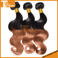 Body Wave two tone hair extensions - Ombre Hair Extensions Brazilian Hair Weave Body Wave Remy Human Hair Weft Queen Hair Products Two Tone Color Hair b