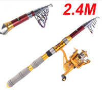 Wholesale Hybrid carbon M FT Portable Telescopic Telescope Fishing Rod Travel Spinning Fishing Pole Sea H10184