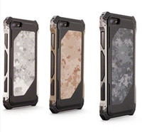 Wholesale SPEC OPS camouflage military despot metal shell cell phone case protective cover For iphone5 border latest real men preferred shock and drop