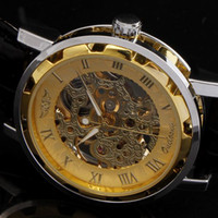 Wholesale Cool Men MECHANICAL WATCHES Luxury Skeleton Wristwatches Winner Fashion Men Bracelet Movements Watches Drop shipping