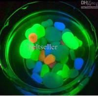 Silicone ECO Friendly  Hot Sale Glow in The Dark Photoluminescent Resin Stone Fish Tank garden Decoration 30pcs lot