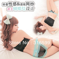 Women Cotton Boxers & Boy Shorts Free Shipping Sexy Hipster Panties Lace Sexy Net Transparent Lingerie for Lady Thong Panty Lingerie Wholesale Dropship YST2095