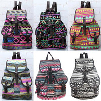 Wholesale Vintage Floral Casual Canvas Sports School Bag Backpack fit inch Laptop FB286 salebags