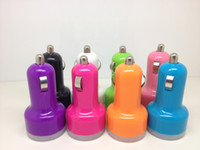 Wholesale Dual mini nipple Bullet Port USB Car Charger Adapter For iPhone S iPad Mini Galaxy S3 S4 i9500 Note2 MP3 Cell