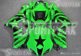 Custom Fairings kit for Kawasaki ZX-6R 2007 2008 Ninja ZX6R 07 08 636 ZX 6R zx636 green black parts fairing kits za66