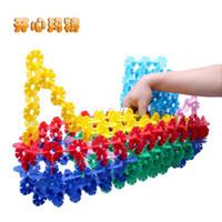 Wholesale Sale Snowflakes plastic assembling building blocks Children s educational toy building blocks
