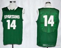 Men michigan - Top Quality NCAA Jerseys Michigan State Spartans Gary Harris Green Embroidery Logo Name Basketball Jerseys Mix Order