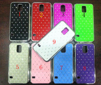 Wholesale For Samsung Galaxy S5 Bling Star Diamond Rhinestone Crystal Chrome Metal Hard Electroplate Skin Cover Cases for Samsung Galaxy S5 i9600