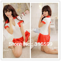 Wholesale lingerie Japan Sex School Girl Hot Sexy School Skirt Hot Sale Sleepwear Temptation Sexy Costume Drop Ship US1569