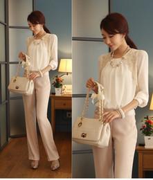 Wholesale 2014 Fashion New Women Embroidery Elegant Long sleeved Chiffon Lace Blouse Lady Casual Basic Women s clothing G0421