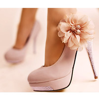 Women Spool Heels Summer High heel shoes quality dress flower ladies fashion lady pumps women's sexy heels wedding shoe SW006