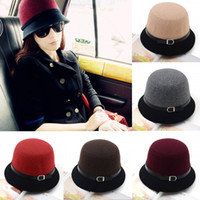 Wholesale Autumn and Winter Ladies Fashion Vintage Cute Hat Adult Women Fedora Hats Dome Hat Bowler Caps Bucket Mini top Hat Cloche Headwear H3124
