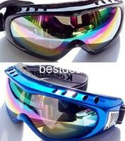 Wholesale 10pcs For winter use colorful plastic Ski Goggles P002p