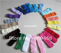"Headwear Solid Children Free Shipping Wholesale High Quality 1.5"" Infant baby girl Top TuTu crochet headband Hair Bow headwear Kid's Hair Accessories"