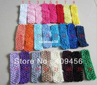 Wholesale 26 colors Crochet Elastic Baby Headband Fashion Hair Accessories quot Newborn Infant Girl Crochet Headband