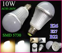 Wholesale 5730SMD led bulb lights Globe Lamp E27 E26 B22 W V V led lamp Led Spotlight High quality warm white white