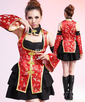 Wholesale sexy fancy women Chinese Cheongsam Presided Wedding Dress nightclub Evening Cheongsam Drop Ship US4054