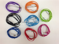 Cable DC3.5mm Samsung DVD iPod Car CD player Computer Colorful 1M 3FT Flat Noodle Audio Cable Wire AUX 3.5mm Male to Male Stereo Auxiliary Earphone for Mp3 Mp4 iPhone Samsung CD Player Headphone