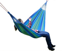 Wholesale New Arrive One Person Family Camping Camp One Person Canvas Outdoor Leisure Fabric Stripes Hammock