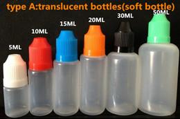 Wholesale Needle bottle ml ml ml ml ml ml Empty bottle Plastic Dropper Bottle Empty E Liquid Bottle Oil Bottle DHL
