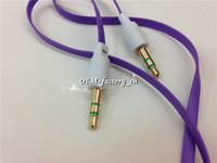Cable DC3.5mm Samsung DVD iPod Car CD player Computer 1M 3FT Flat Noodle Audio Cable Wire AUX 3.5mm Male to Male Stereo Auxiliary Earphone for Mp3 Mp4 iPhone Samsung CD Player Headphone