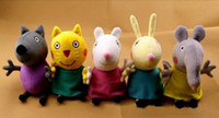 Wholesale peppa pig friends plush toys New item set Animal Dog cat sheep rabbit elephant doll gift for children CCtoy