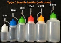 500PCS Needle bottle 5ml 10ml 15ml 20ml 30ml 50ml Empty bott...