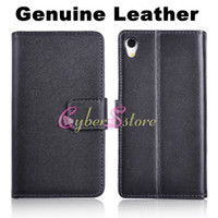 Wholesale Sony Xperia Z2 Case Luxury Real Genuine Wallet leather Case Cover With Credit Card Slot Stand Holder For Sony Xperia Z2 D6503 L50w