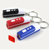 Wholesale LED PROJECTION CLOCK KEY RING FINDER HOLDER SPY NEON DJ GADGET GLOW IN DARK ID