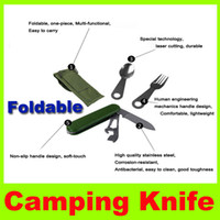 Wholesale 2014 New style Picnic Set Tableware Stainless steel detachable camping Multi purpose portable out for knife bottle opener fork spoon L