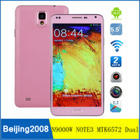 Wholesale inch G Smartphone M HORSE N9000W NOTE3 Android MTK6572 Dual Core GHz GB ROM QHD Screen GPS WiFi phone