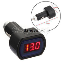 Wholesale DC V V Car Digital LED Engine Battery Voltage Electric Volt Meter Monitor Indicator Tester Voltmeter dandys