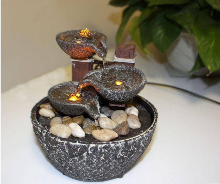 indoor water fountain with led lights coast tiered rock bowl fountain beautiful arts and crafts - Fountain For Home Decoration