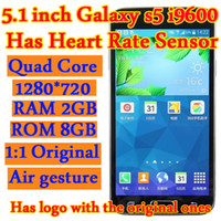 No Brand 5.1 Android 1:1 S5 i9600 Goophone 5.1 inch Quad Core cell phones Android 4.4.2 Quad Band WCDMA Camera WiFi 3G Unlocked Smart Mobile Cell Phone