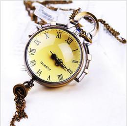 2017 Fashion charming crystal ball Necklace pocket watch Wholesale 10 PCS women pendant pocket watch woman