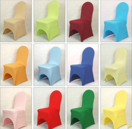 Wholesale Universal White spandex Wedding Party chair covers White spandex lycra chair cover for Wedding Party Banquet many color