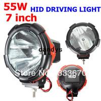 Xenon atv head lights - 7 quot W V HID Xenon Driving Fog Work Head Spot light Beam Off Road Truck Car ATV x4 WD dandys