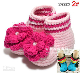 Wholesale Baby walker shoes baby knitting shoes new ultra fine crochet baby shoes